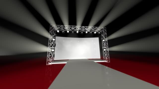 podium for fashion show video