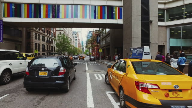 Point of view driving in New York city video