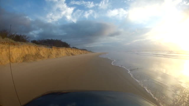 Point of view driving on Fraser Island, Australia video