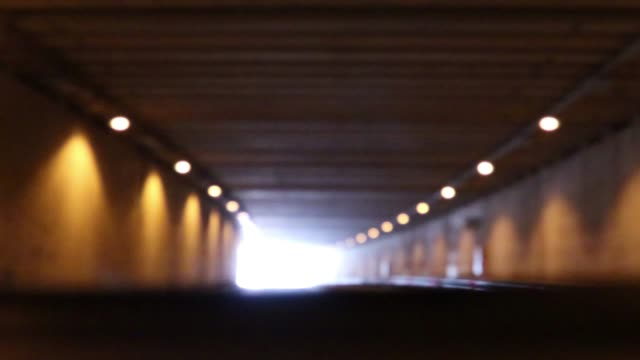 4K Point Of View Driving Tunnel