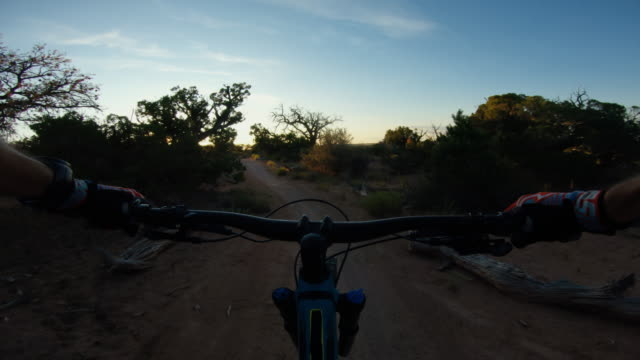 Point of view POV mountainbike in Moab, Utah