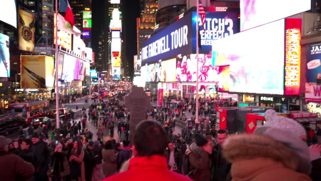 Point of view New York City Times Square POV people video
