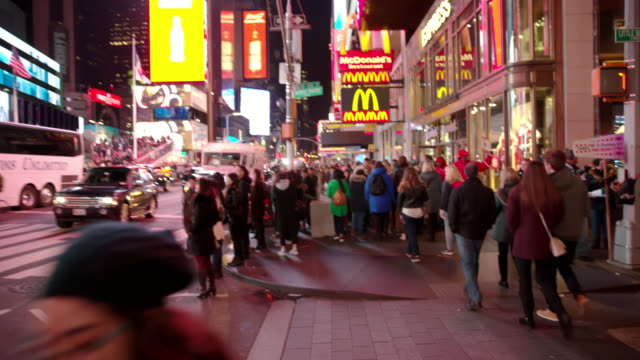 Point of view people Times Square POV New York City video