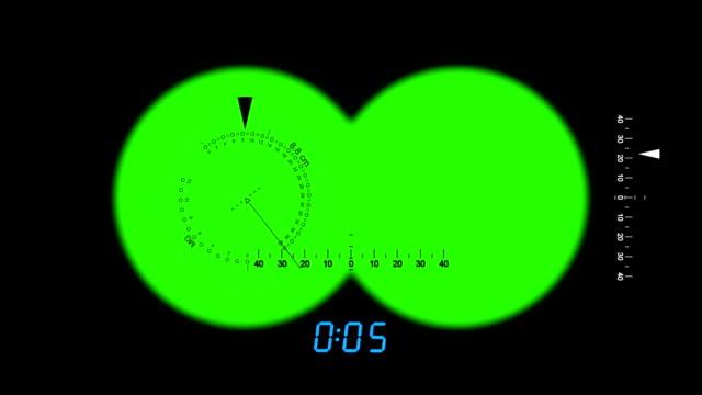 視点、ミリタリースパイ双眼鏡、緑色の画面のアニメーション - スパイ点の映像素材/bロール