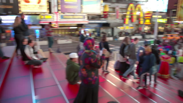 POV point of view Time Square New York City crowd video