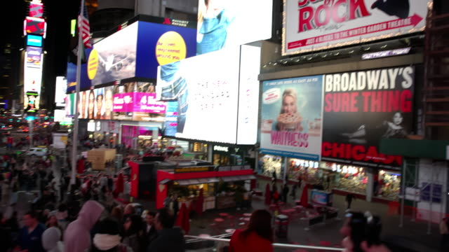 POV point of view Time Square New York City people video