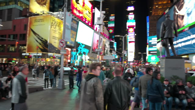 Point of view POV Time Square New York City people video