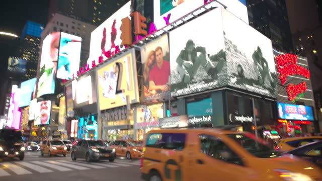 Point of view Time Square POV New York City people video