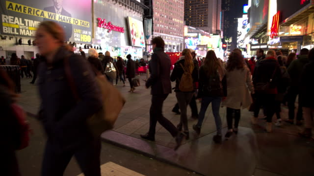 Point of view Times Square POV New York City people video