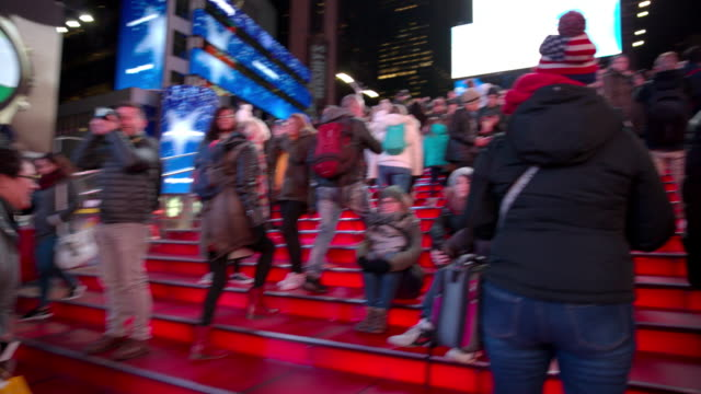 Point of view Times Square POV people New York City video
