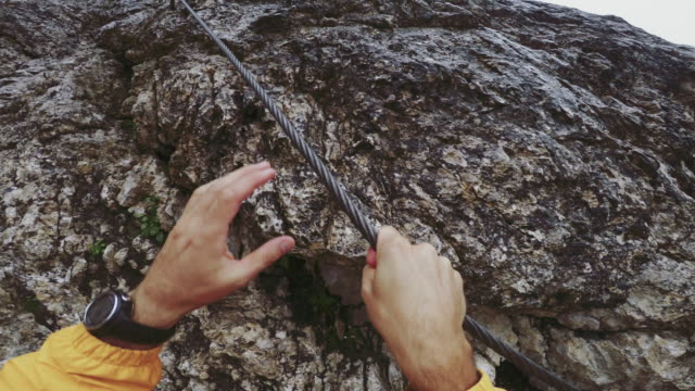 Point of View Video: climbing Via Ferrata on the Alps video