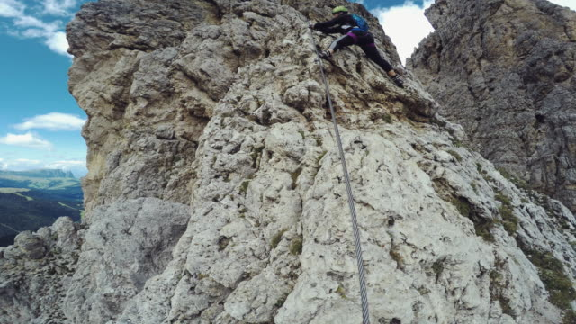 Point of View Video: free climbing on the Alps video