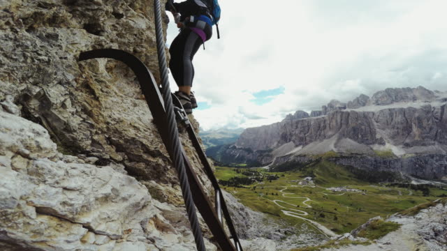POV Point of View Video: Via Ferrata on the Alps video