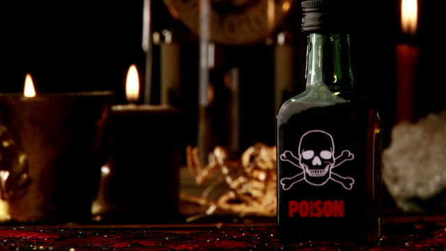 Poison bottle, old clock video