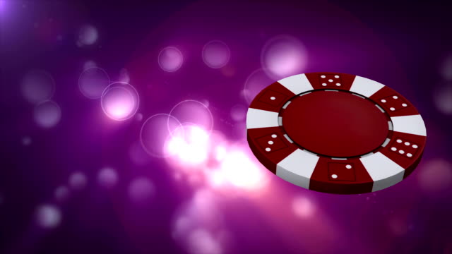 poker chips lights loopable video