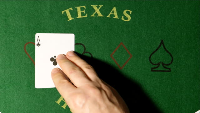 Poker - Dealer hands out cards on a green table video