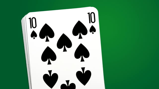 Poker win combination - two different playing cards animations video