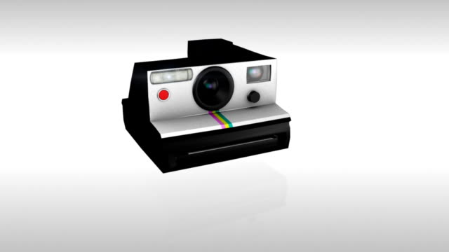 Polaroid single picture 3D animation of a polaroid camera snapping a picture with flash. The image is of a random landscape and fades in slowly at the end of the sequence. Includes an alpha channel and soundtrack. polaroid frame stock videos & royalty-free footage