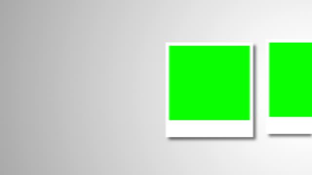stockvideo's en b-roll-footage met polaroids frames met groen scherm voor je foto - polaroid
