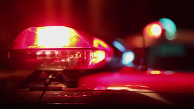 Police car close-up