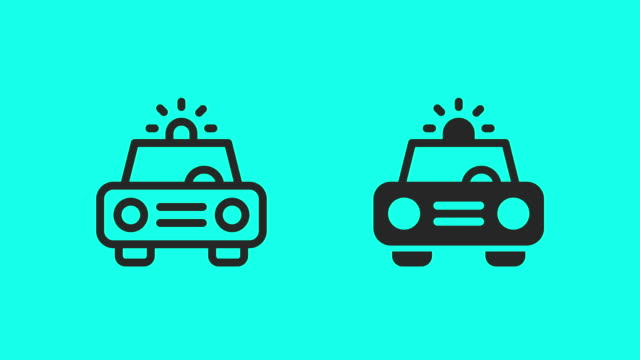 Police Car Icons - Vector Animate