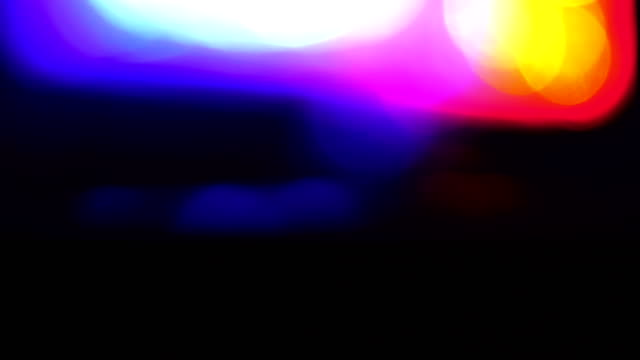 Police car lights close-up video