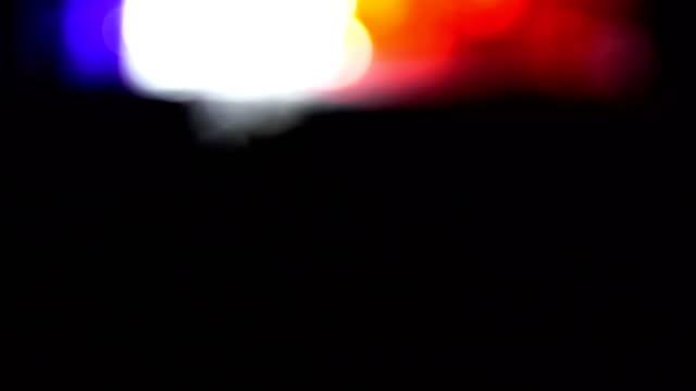 Police car lights close-up video