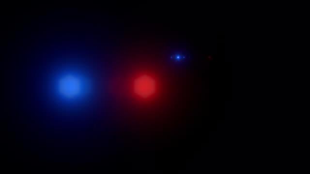 Police car lights Flash