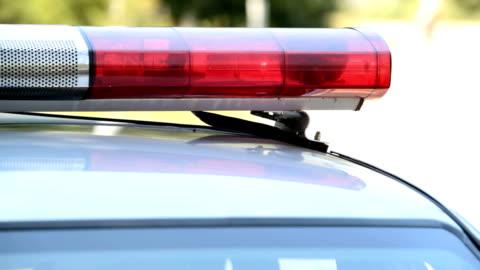 police car lights - dag bildbanksvideor och videomaterial från bakom kulisserna