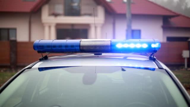vídeos y material grabado en eventos de stock de primer plano de luces de policía - brigada