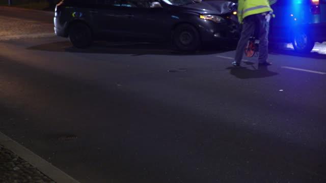 LS Police investigate a car accident video