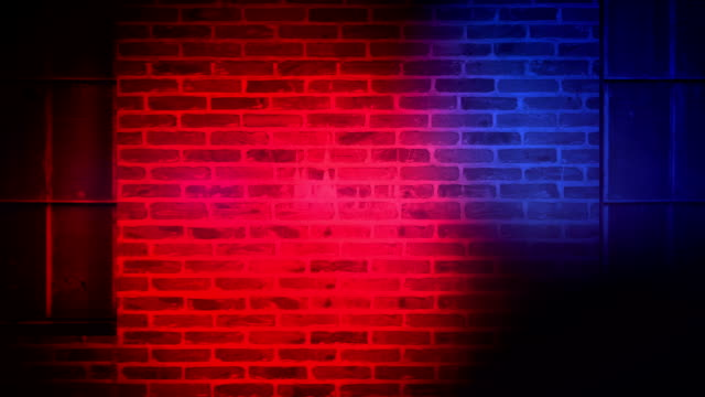 Police Lights Animation of Police Lights flashing on brick wall crime scene stock videos & royalty-free footage