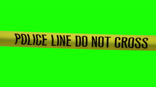 Police Line Do Not Cross Tape A 4K resolution video of a Police caution tape. Filmed on a Chroma Key Green Screen. crime stock videos & royalty-free footage