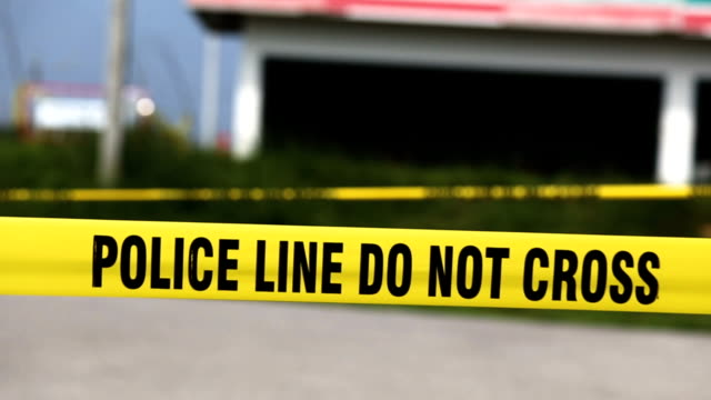 police line protect crime scene area - domestic violence stock videos & royalty-free footage