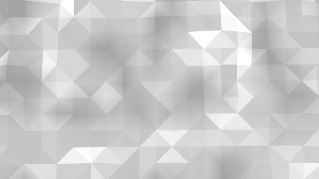polygonaler geometrik yüzey sorunsuz döngü - prisma stock-videos und b-roll-filmmaterial