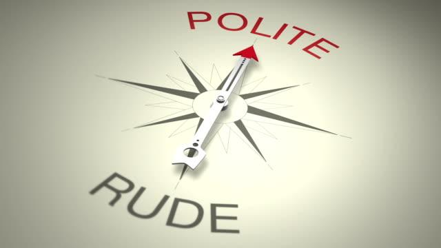 礼儀正しくと rude - 方向点の映像素材/bロール