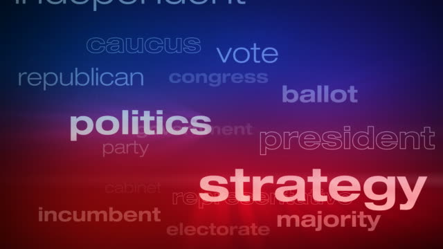 Political and Election Words Loop video