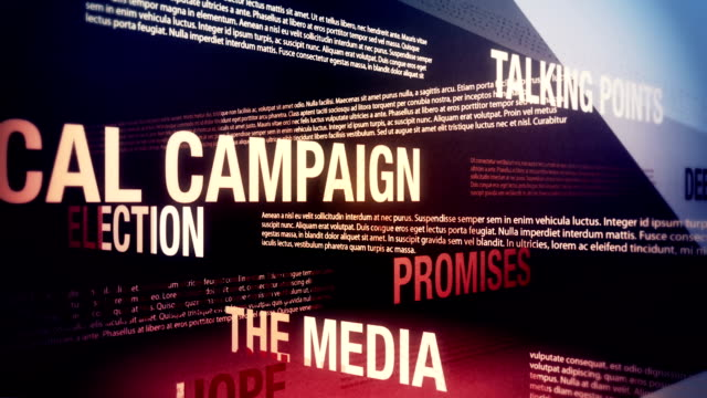 Political Campaign Related Terms Background Loop video
