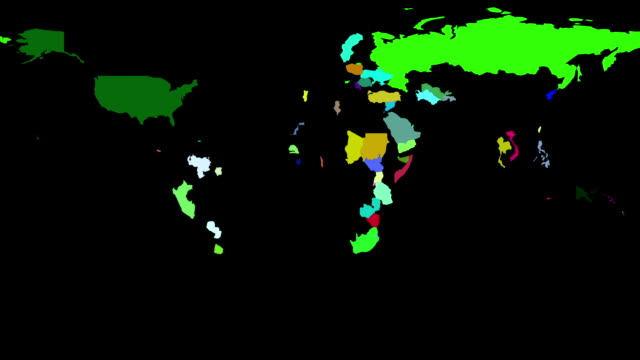 Political Map of the World video