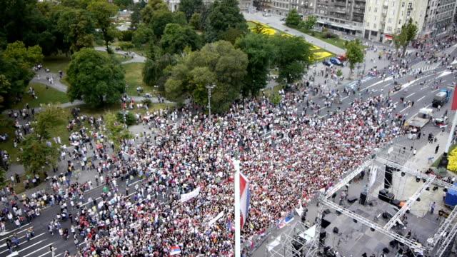 Political rally aerials