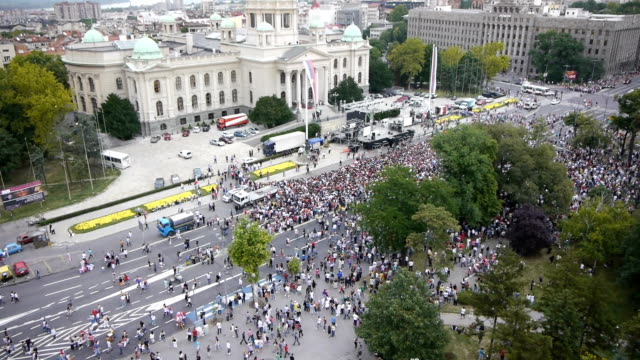 Political rally aerials video