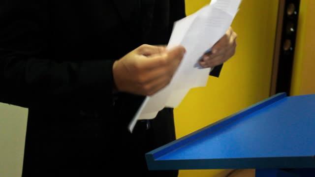 Politician Interview video
