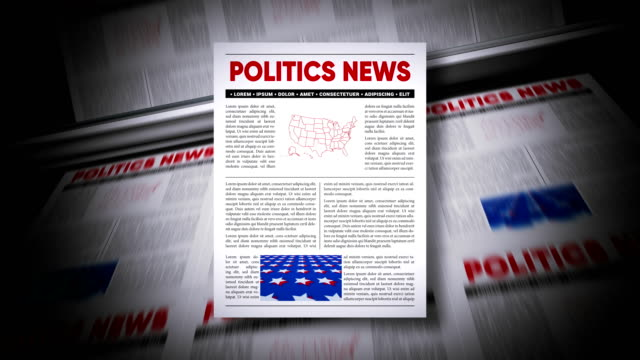 politics news - newsletter video stock e b–roll