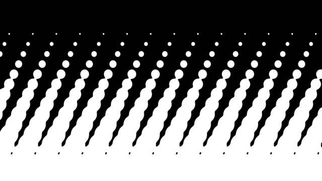 stockvideo's en b-roll-footage met polka dot patroon animatie. moderne geometrische cirkel. loop animatie. - halftint
