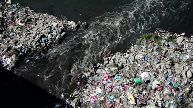 HD: Polluted River in Asia. video
