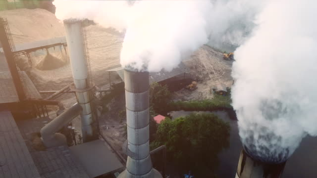 pollution on industry - anidride carbonica video stock e b–roll