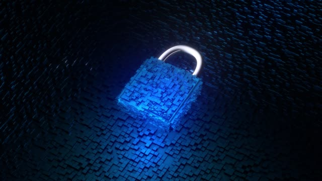 Polygonal lock and data Network data security and protection solid stock videos & royalty-free footage