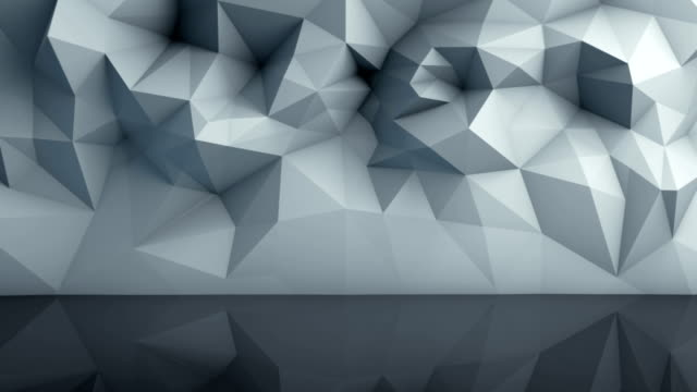 Polygonal surface with reflection loopable 3D render video