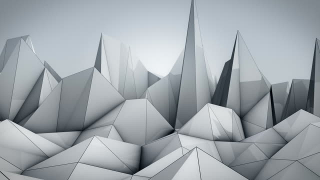 polygonal wave - black and white architecture stock videos & royalty-free footage