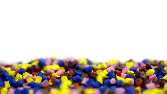 Polymer granules macro shot